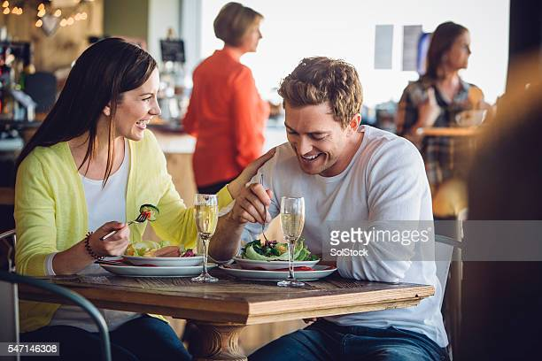 Couple on a luch date