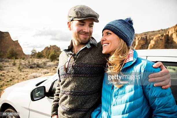 Couple on a road trip.