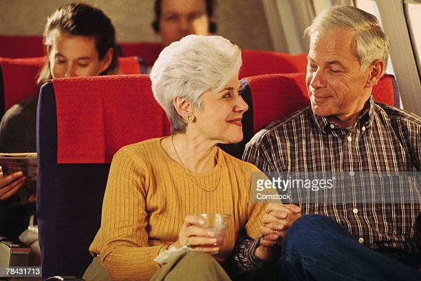 Couple on airplane