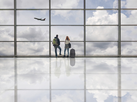 Couple on airport - gettyimageskorea