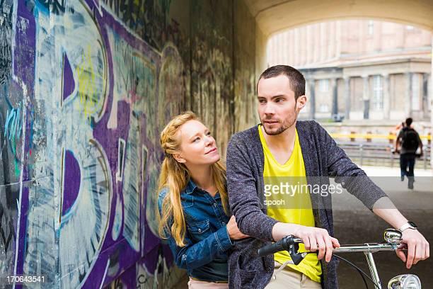 Paar auf Fahrrad
