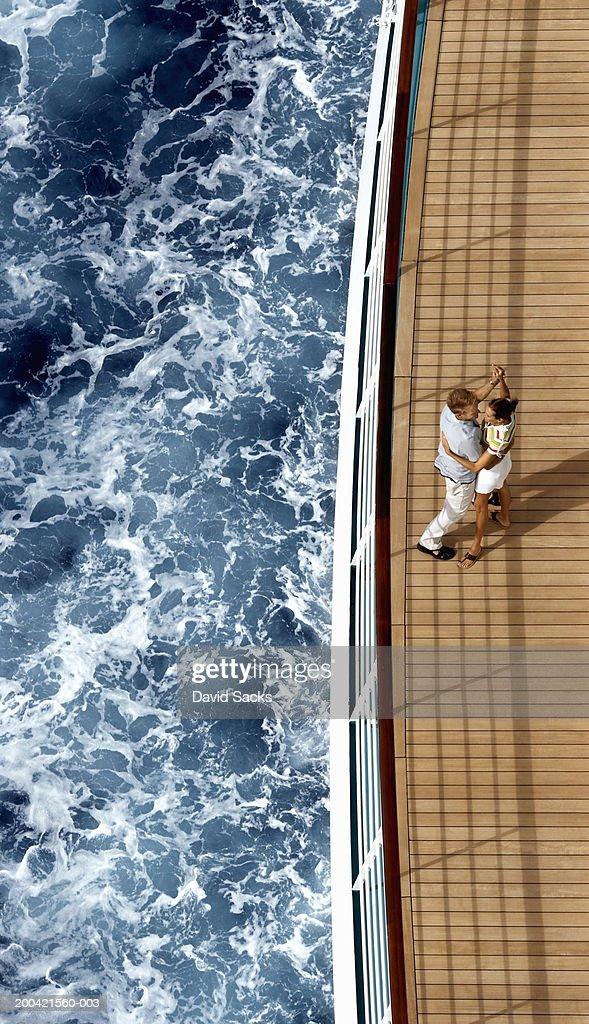 Couple on cruise ship : Foto de stock