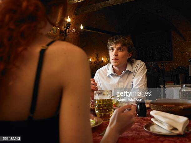 Couple on Date in Restaurant