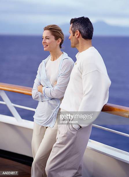Couple on Deck of Cruise Ship, Caribbean