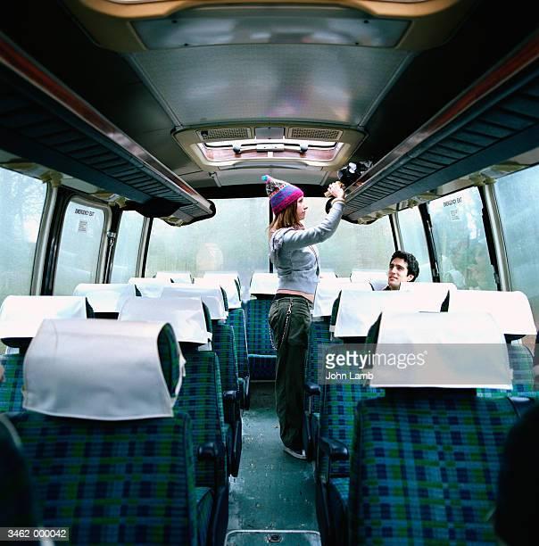 Couple on Empty Bus