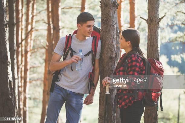Paar auf Wandern