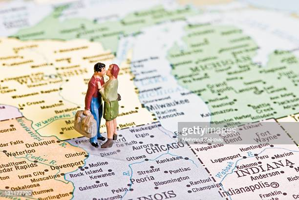 Couple on map