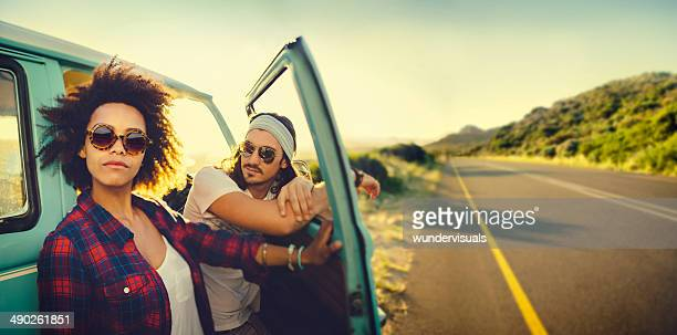 Couple on roadtrip