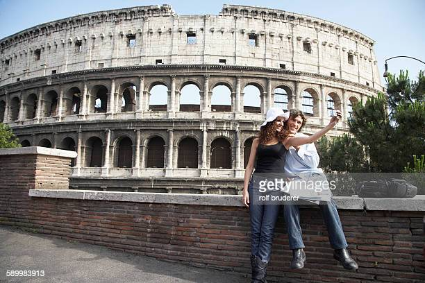 Couple on Rome Vacation