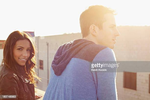 Couple on roof top