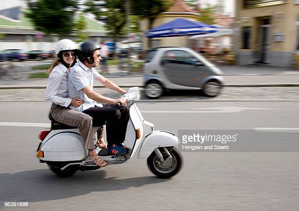 couple on scooter