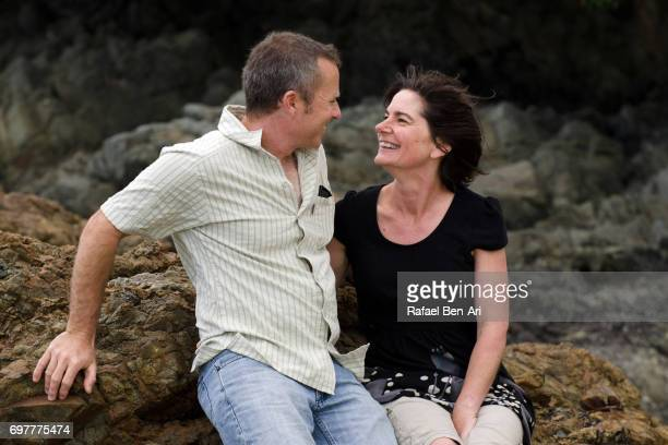 couple on summer holiday vacation - rafael ben ari stock pictures, royalty-free photos & images