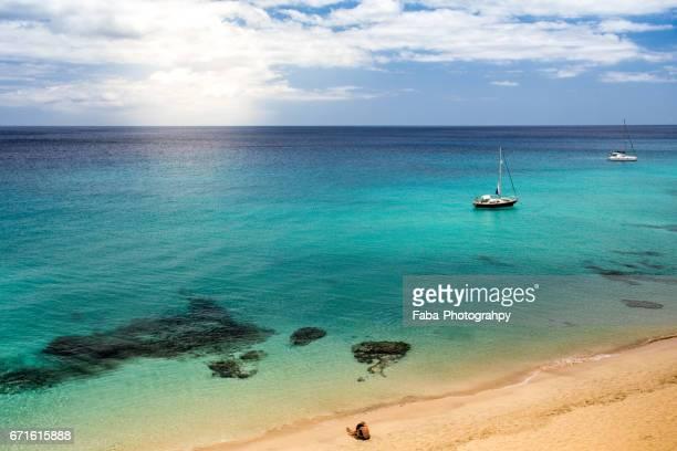 Couple on the beach of Fuerteventura
