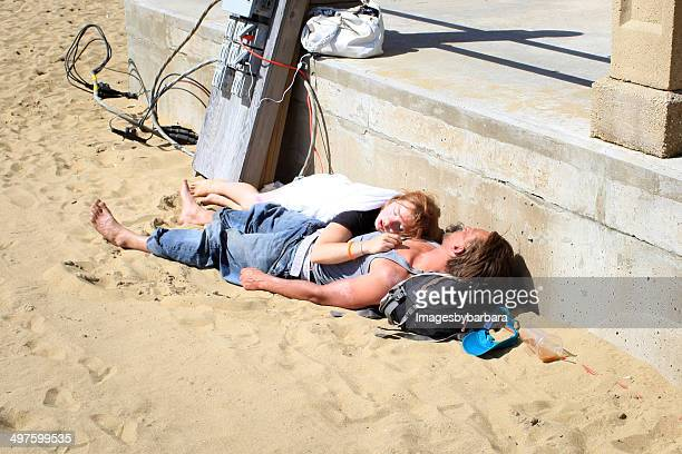 couple on the beach - virginia beach stock photos and pictures
