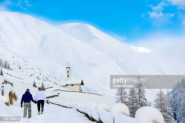 Couple on the snow
