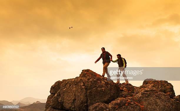 Paar auf einen Berg