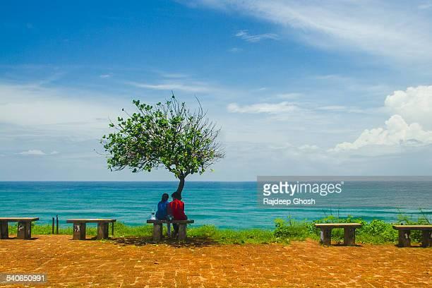 Couple on varkala beach