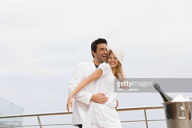 Couple on yacht