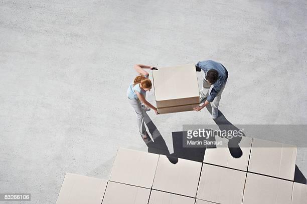 Paar Organisation Boxen