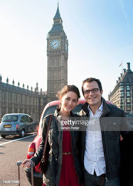 Couple outside House of Parliament