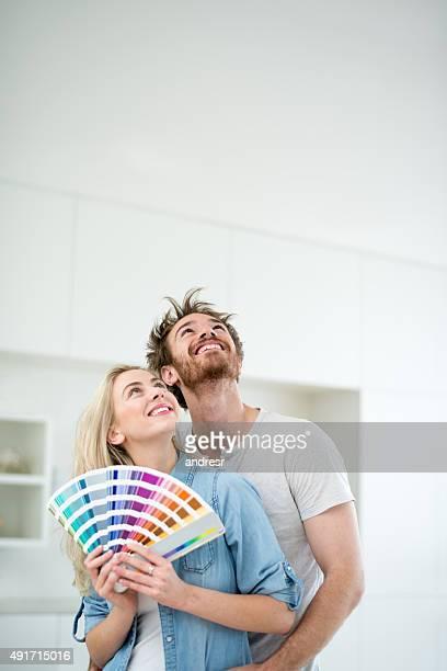 Paar Gemälde zu Hause