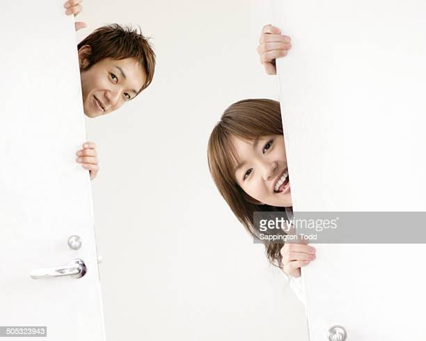 Couple Peeking