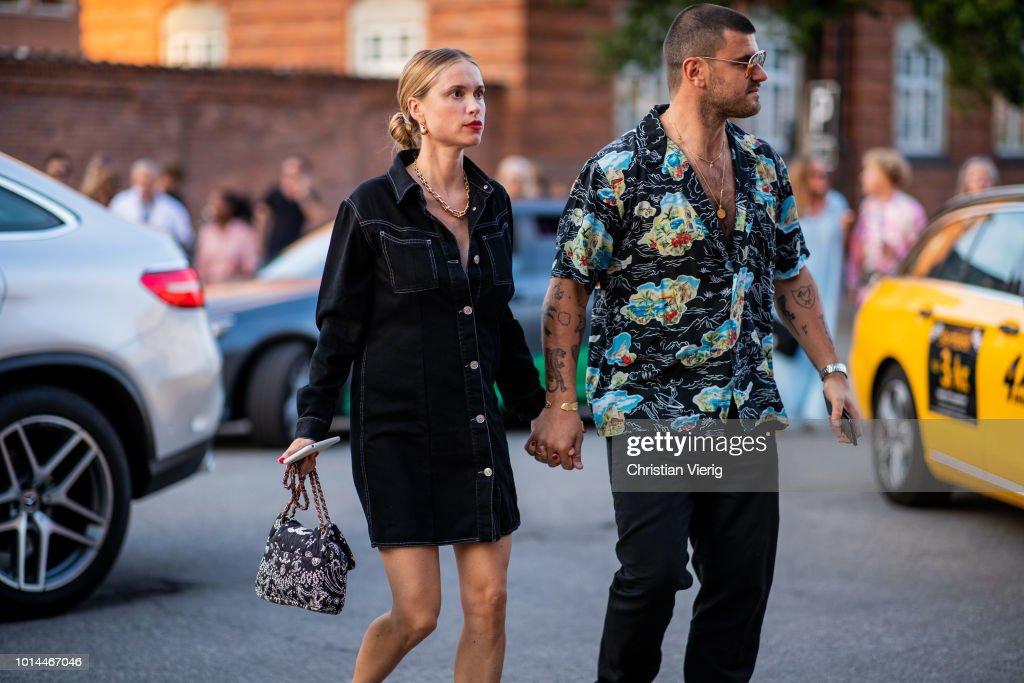 Street Style - Copenhagen Fashion Week Spring/Summer 2019 - Day 3 : News Photo