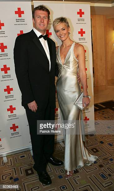 TV couple Peter Overton and his wife news reader Jessica Rowe attend the Australian Red Cross 90th Anniversary Gala at the Westin Hotel March 2 2005...