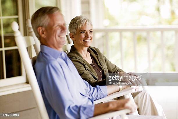 couple - rocking chair stock pictures, royalty-free photos & images