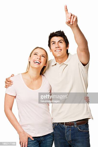 Couple Pointing - Isolated