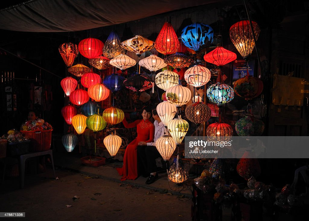 A Couple Poses Between Lantern In A Shop Display On April 21 2015 In News Photo Getty Images