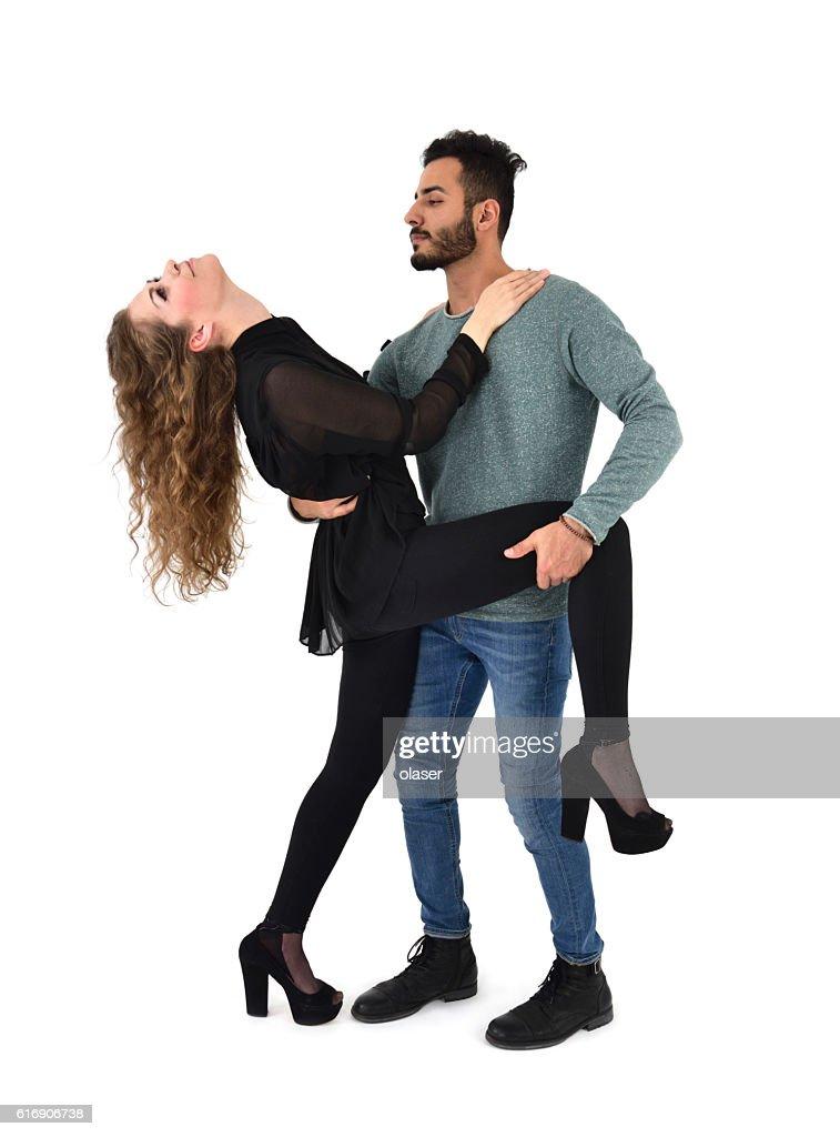 Couple posing or dancing : Stock Photo