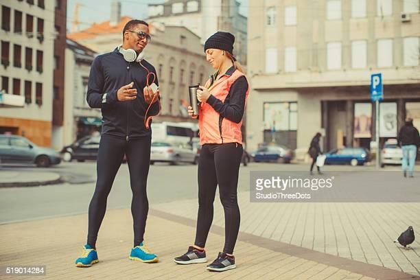 couple preparing for jogging