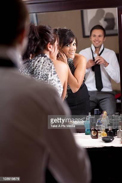 Couple preparing for nightlife
