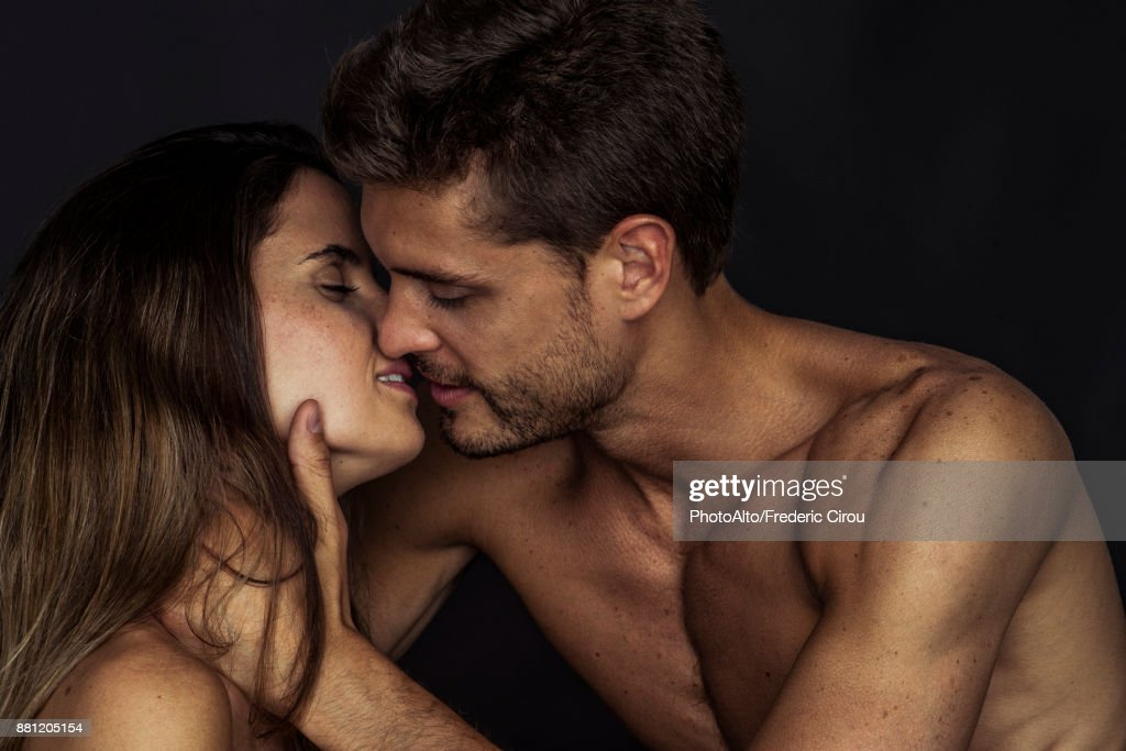 Couple preparing to kiss : Stock Photo