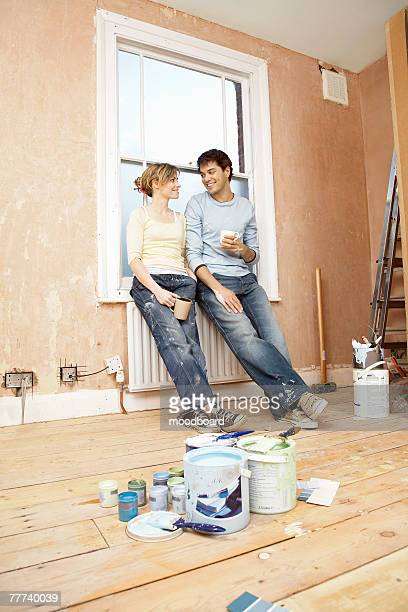 Couple Preparing to Paint Room Together