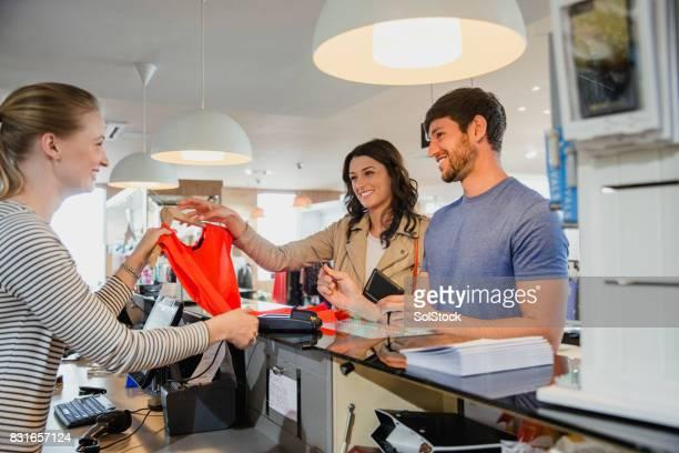 Couple Purchasing Clothing