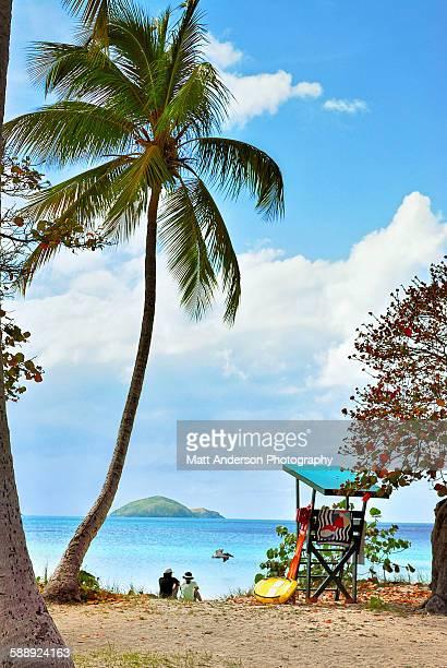 Couple relaxing at Magens Bay St Thomas, Caribbean