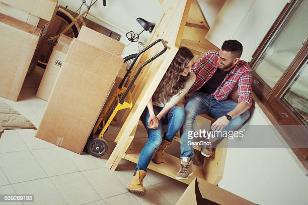Couple Relaxing During a Moving
