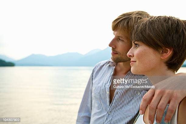 Couple relaxing in the nature