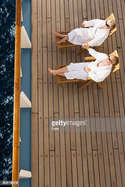 Couple Relaxing on Cruise