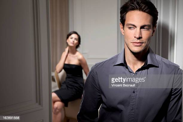 couple rendez vous - seductive stock photos and pictures
