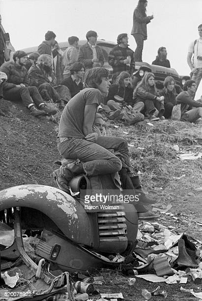 A couple rest at the Altamont Speedway Free Festival in Northern California held on Saturday December 6 1969
