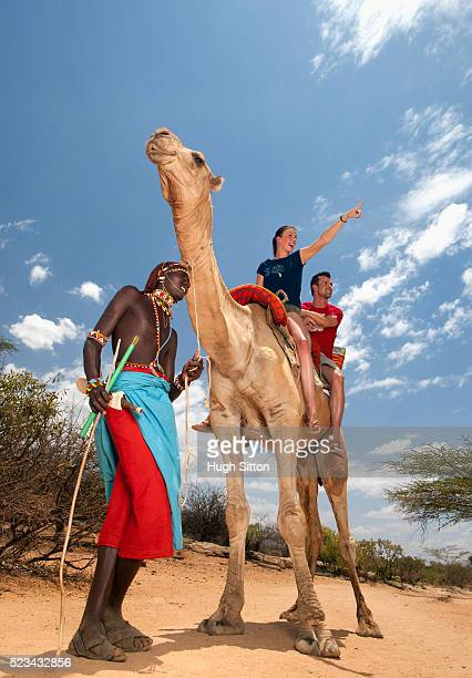 couple riding camel - hugh sitton stock pictures, royalty-free photos & images