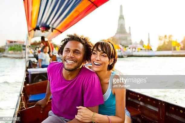 Couple riding gondola, Bangkok, Bangkok, Thailand