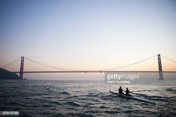 Couple rowing