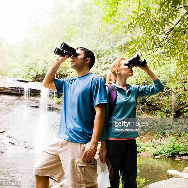 Couple Searching with Binocluars