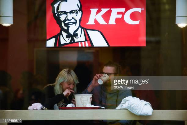 A couple seen at KFC in the city centre