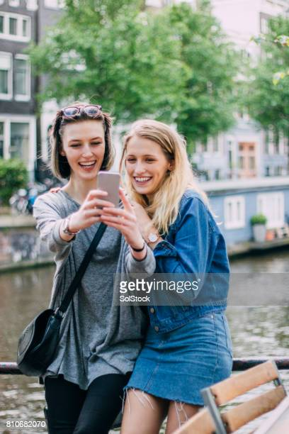 Couple Selfie At Amstel River