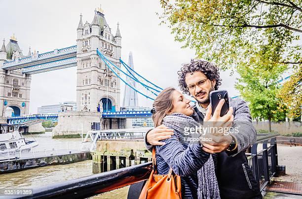 Couple selfie in London